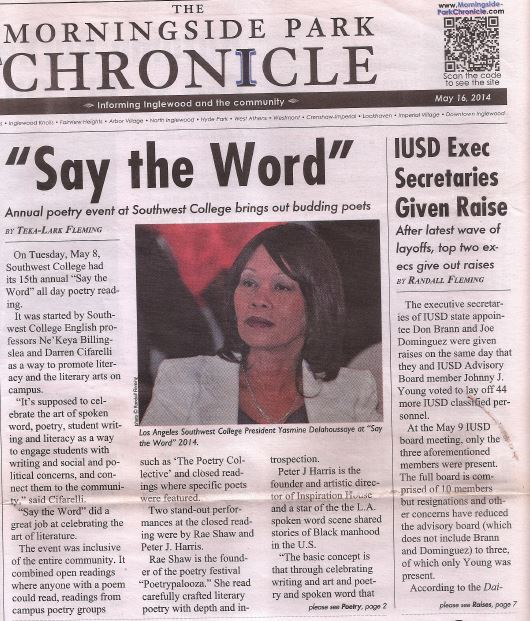 2014 ARTICLE ABOUT SAY THE WORD 1.2