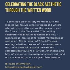 2019 FEB BLACK AESTHETIC POETRY READING.